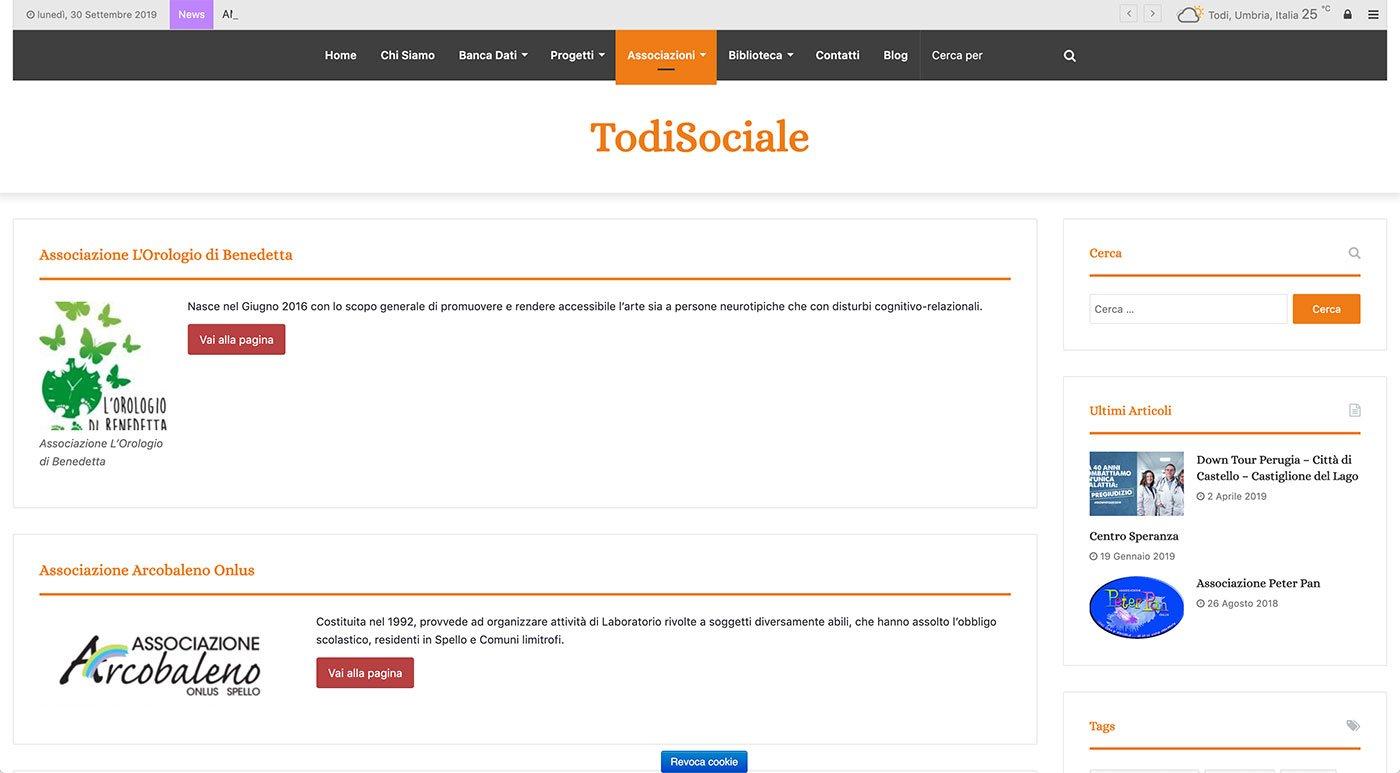 UpYourBrand - Agenzia Web - Sviluppo Sito Web - Todi Sociale - Associazioni