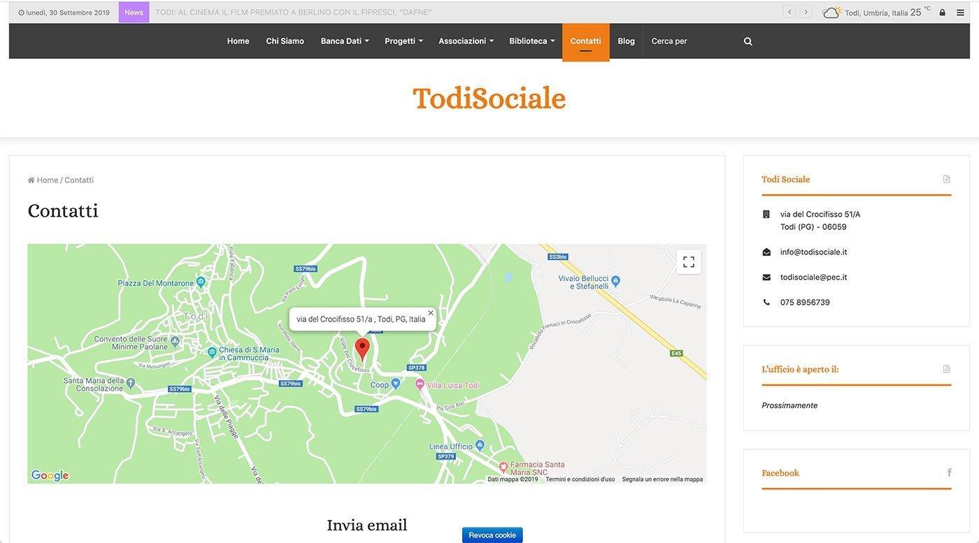 UpYourBrand - Agenzia Web - Sviluppo Sito Web - Todi Sociale - Contatti
