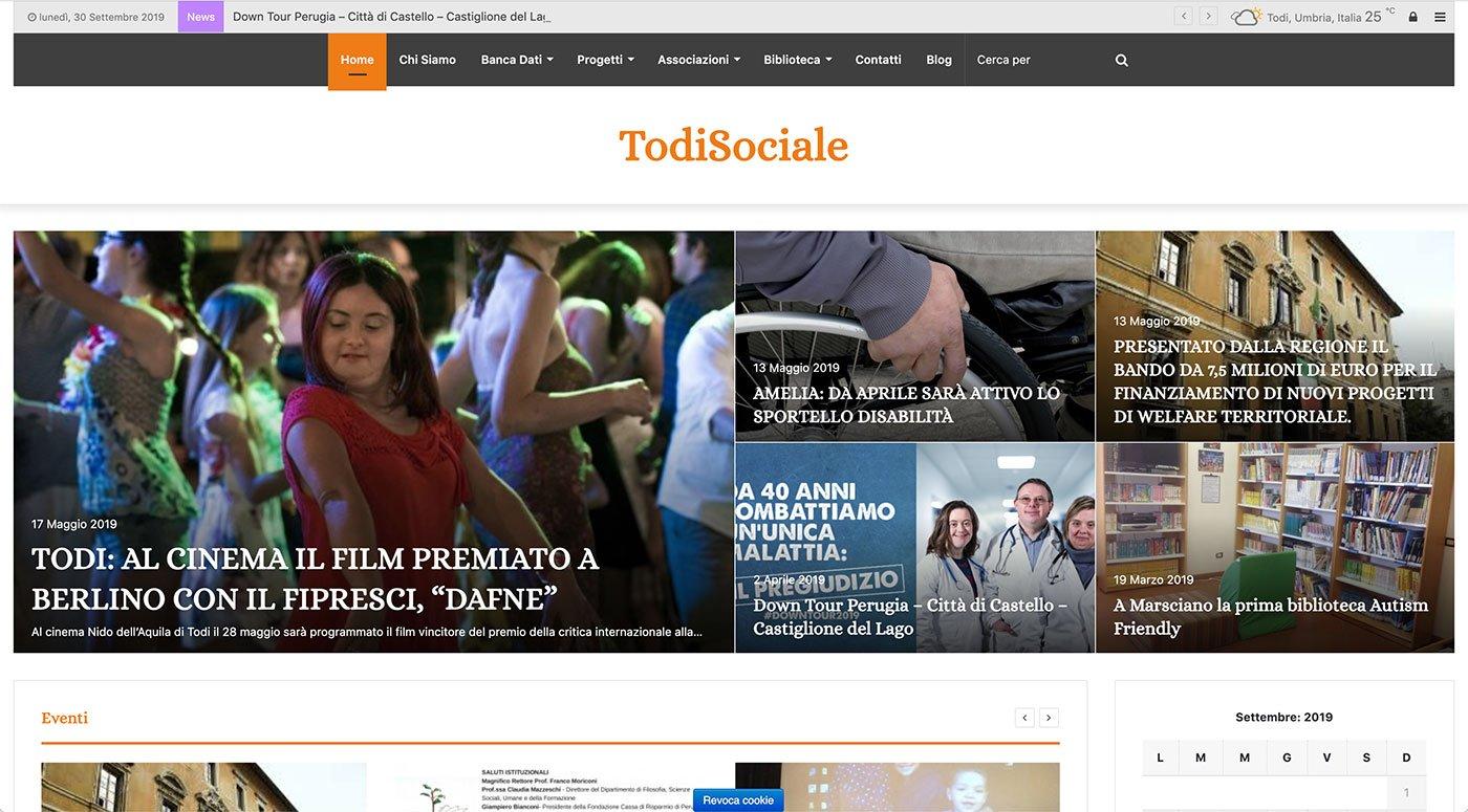 UpYourBrand - Sviluppo Sito Web - Todi Sociale