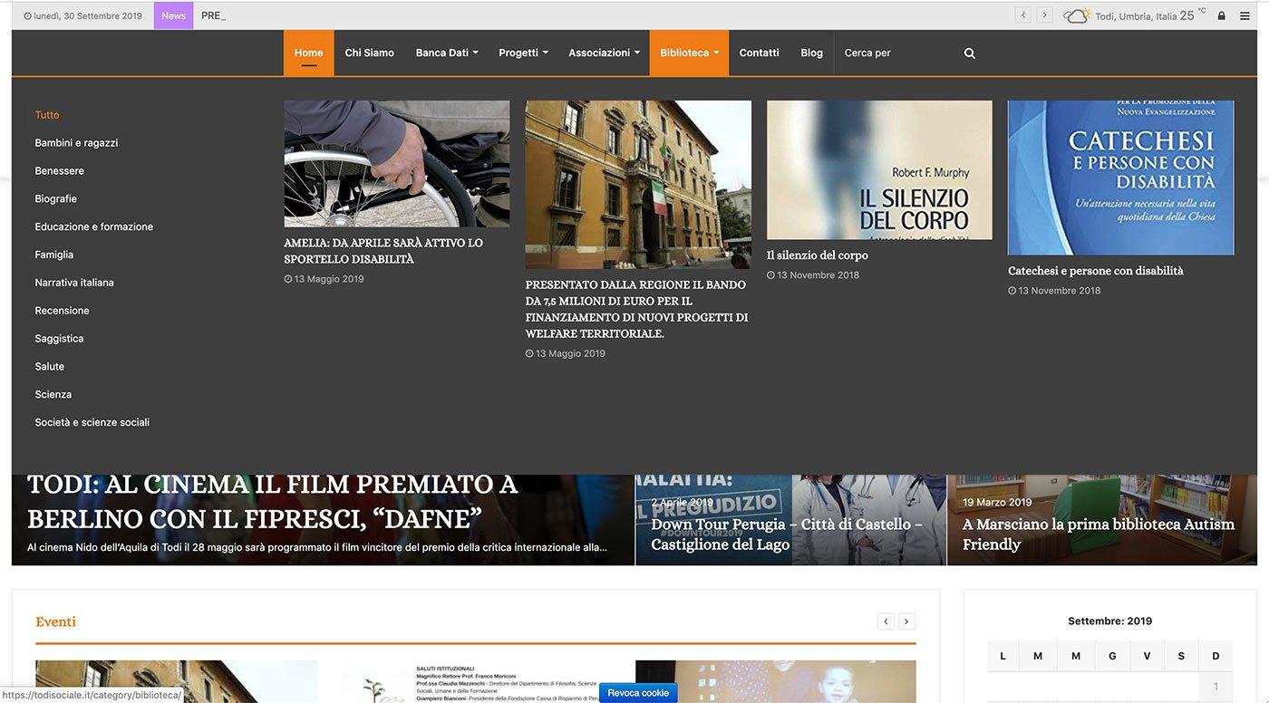 UpYourBrand - Agenzia Web - Sviluppo Sito Web - Todi Sociale - Mega menu