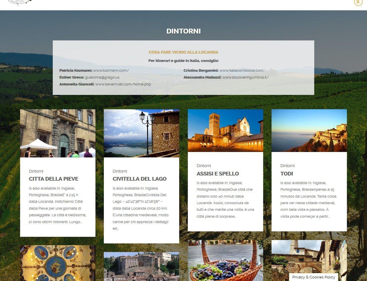 UpYourBrand - Sviluppo Sito Web - Locanda di Doris - Dintorni