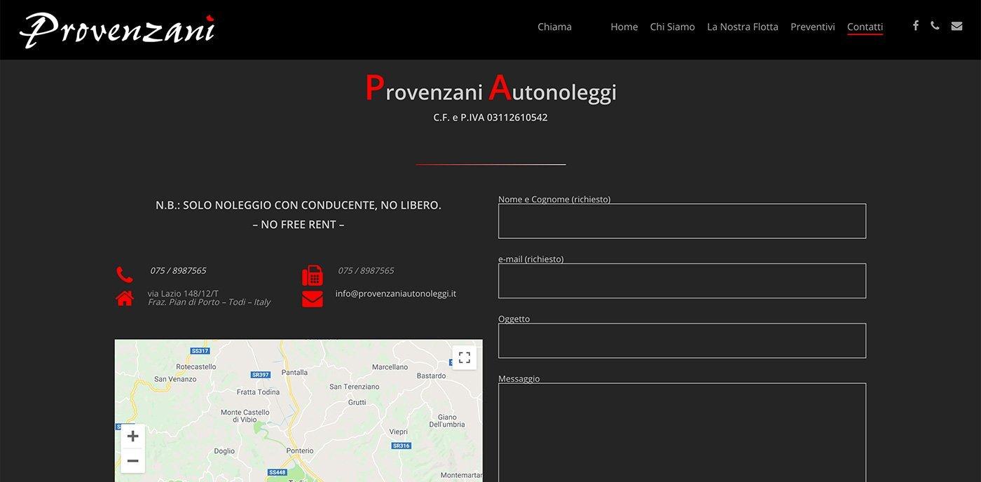 UpYourBrand - Restyling Sito Web - Provenzani - Contatti