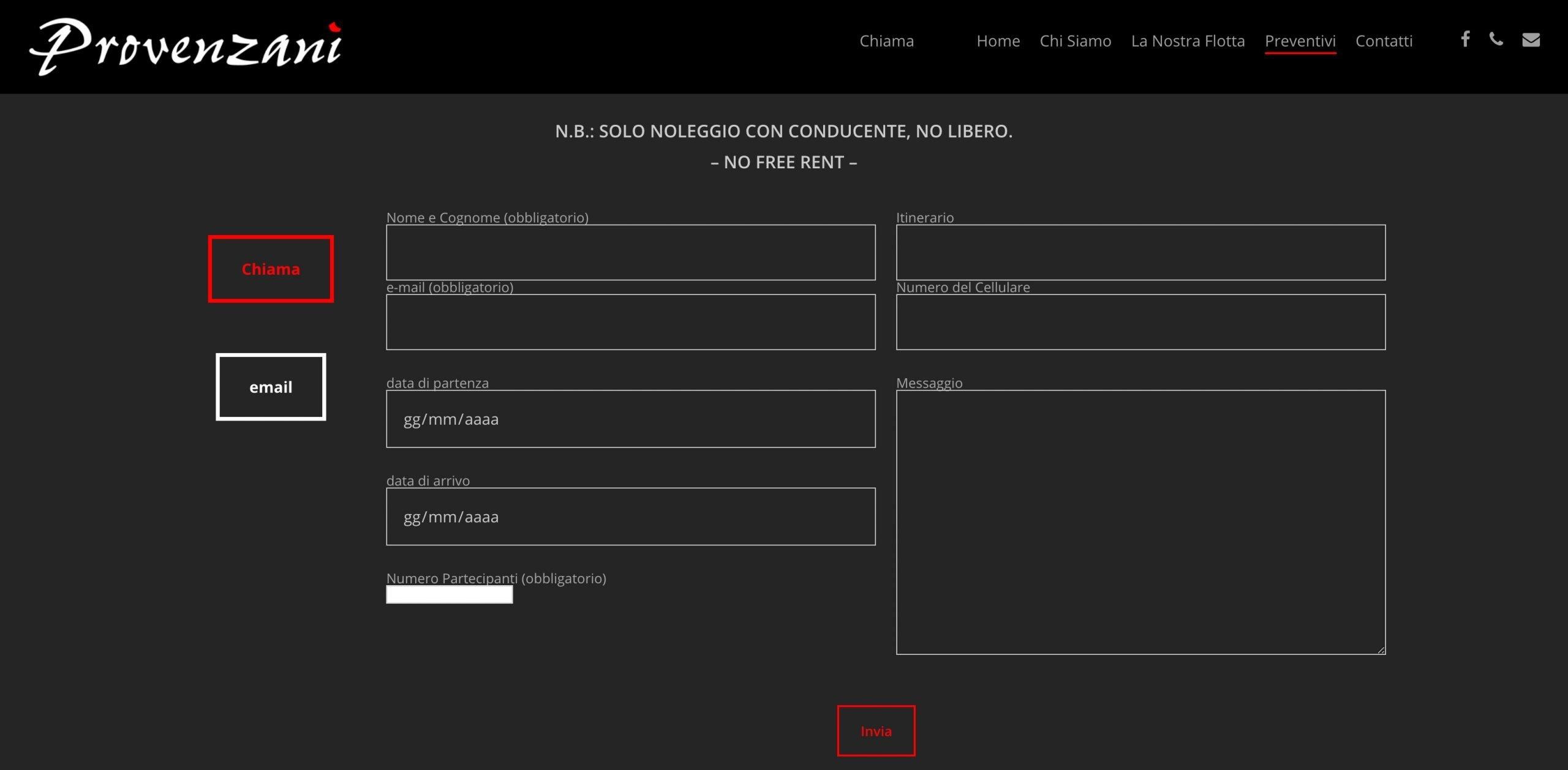 UpYourBrand - Restyling Sito Web - Provenzani - Peventivi