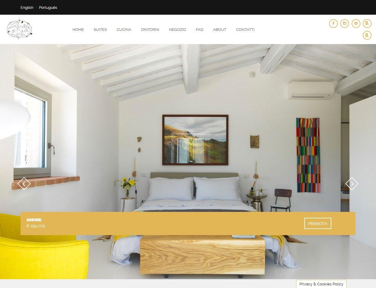 UpYourBrand - Sviluppo Sito Web - Locanda di Doris - Suite
