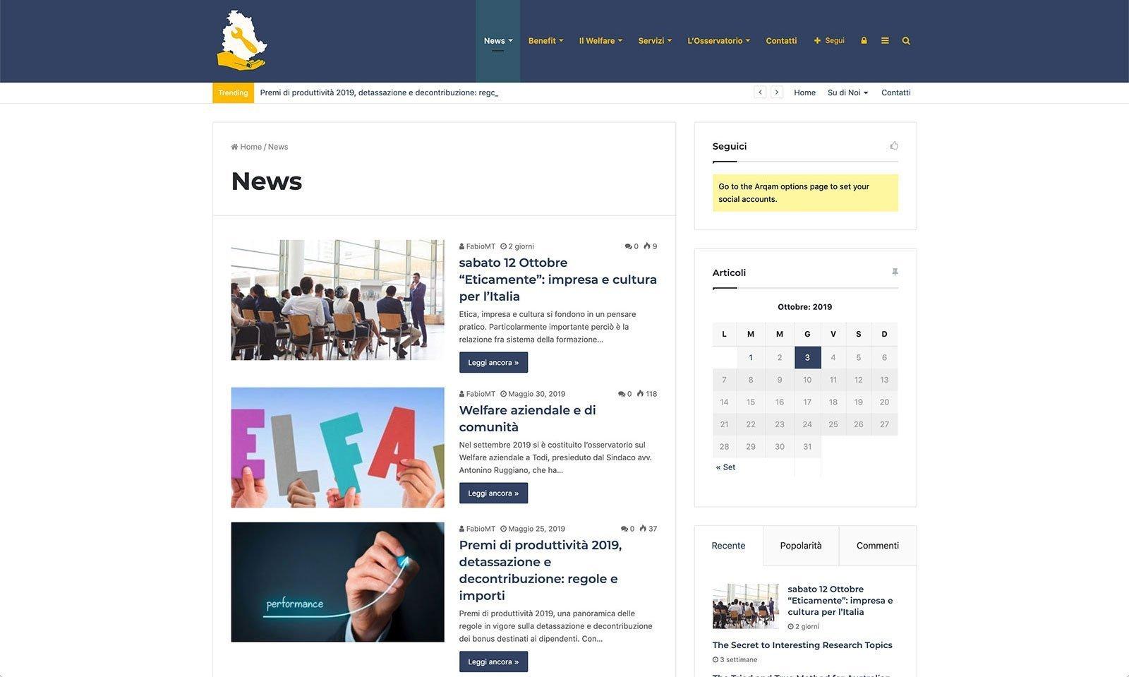 UpYourBrand - Sviluppo Sito Web - Welfare Aziendale - Articoli