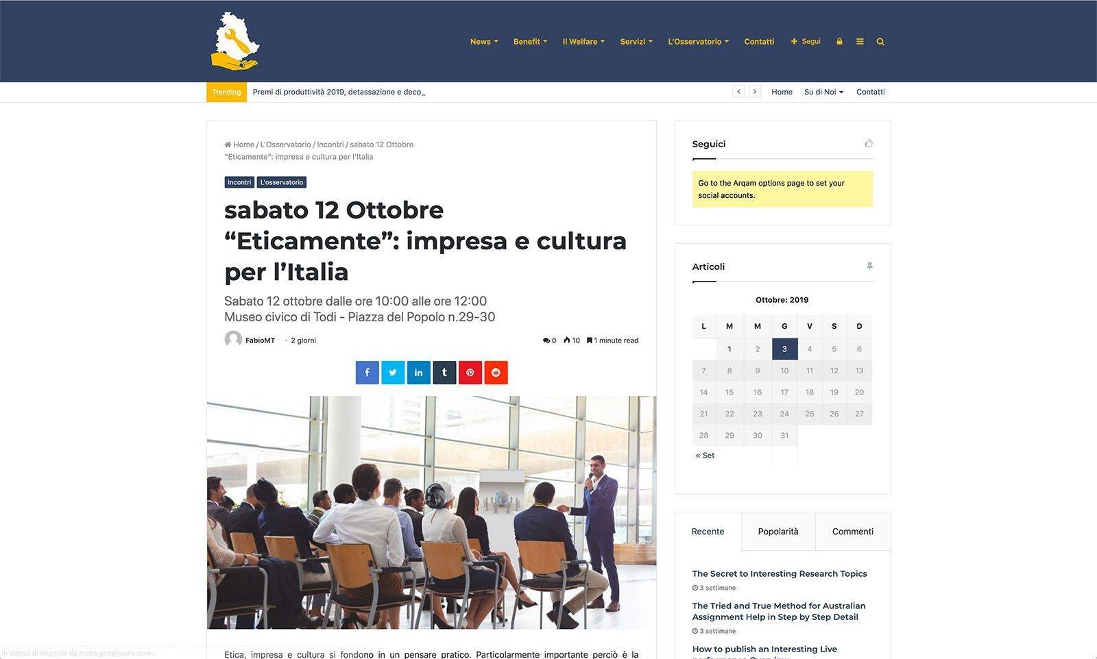 UpYourBrand - Sviluppo Sito Web - Welfare Aziendale - Articolo Singolo