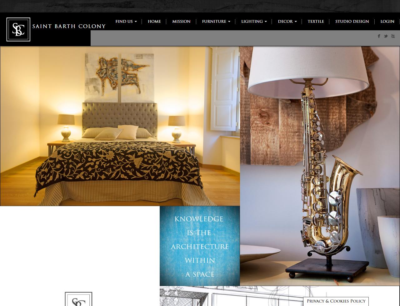 UpYourBrand - Portfolio - Saint Barth Colony - Design