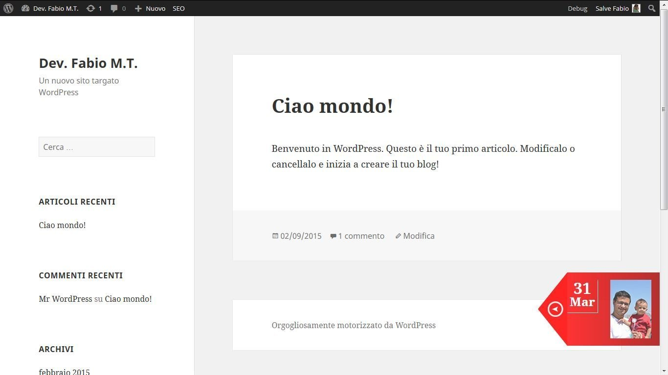 UpYourBrand - Sviluppo Plugin per Wordpress